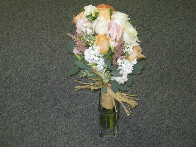 Raffia Wrapped Bride's Bouquet