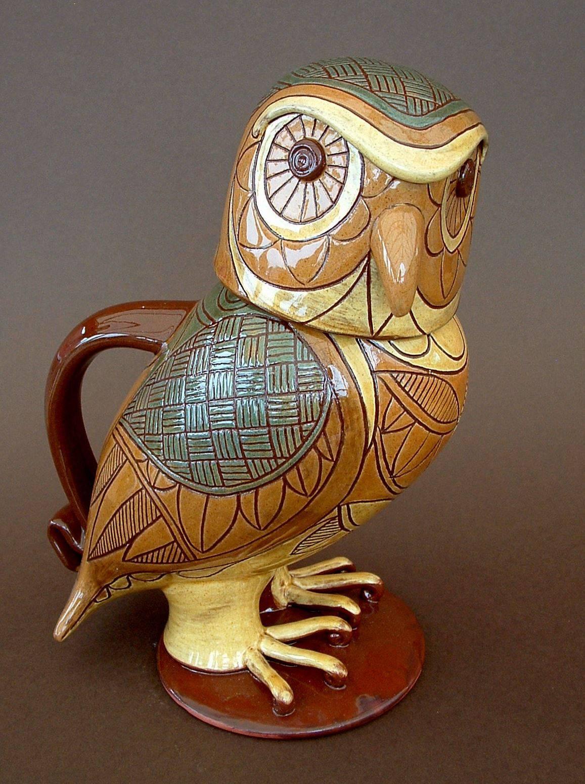 "Little owl jug 10"" tall"