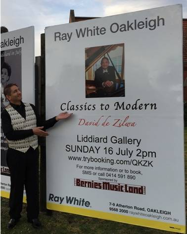 2017 Classics to Modern fundraiser recital, three meter high billboard