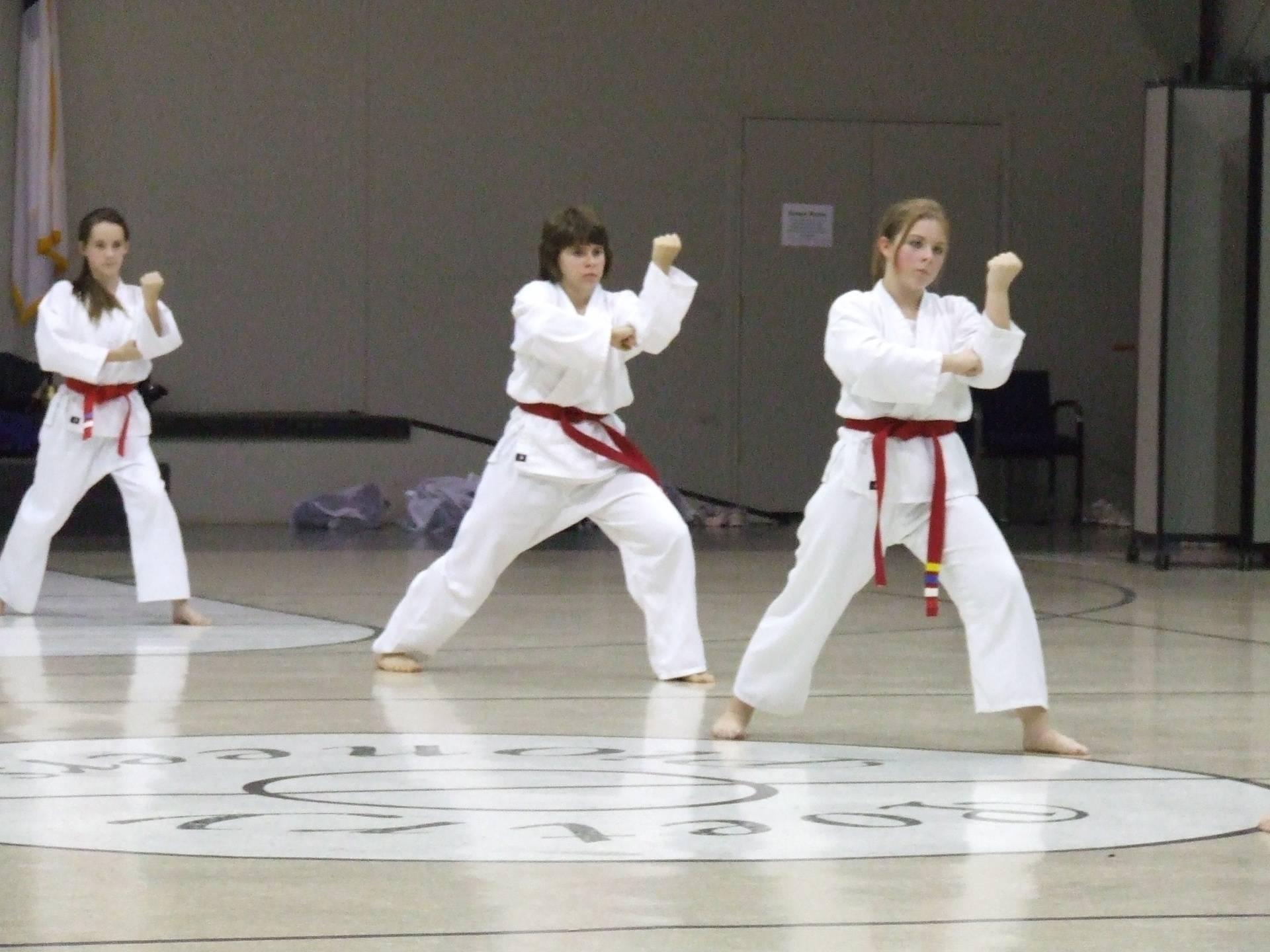 Red belts testing for Red/Black belts