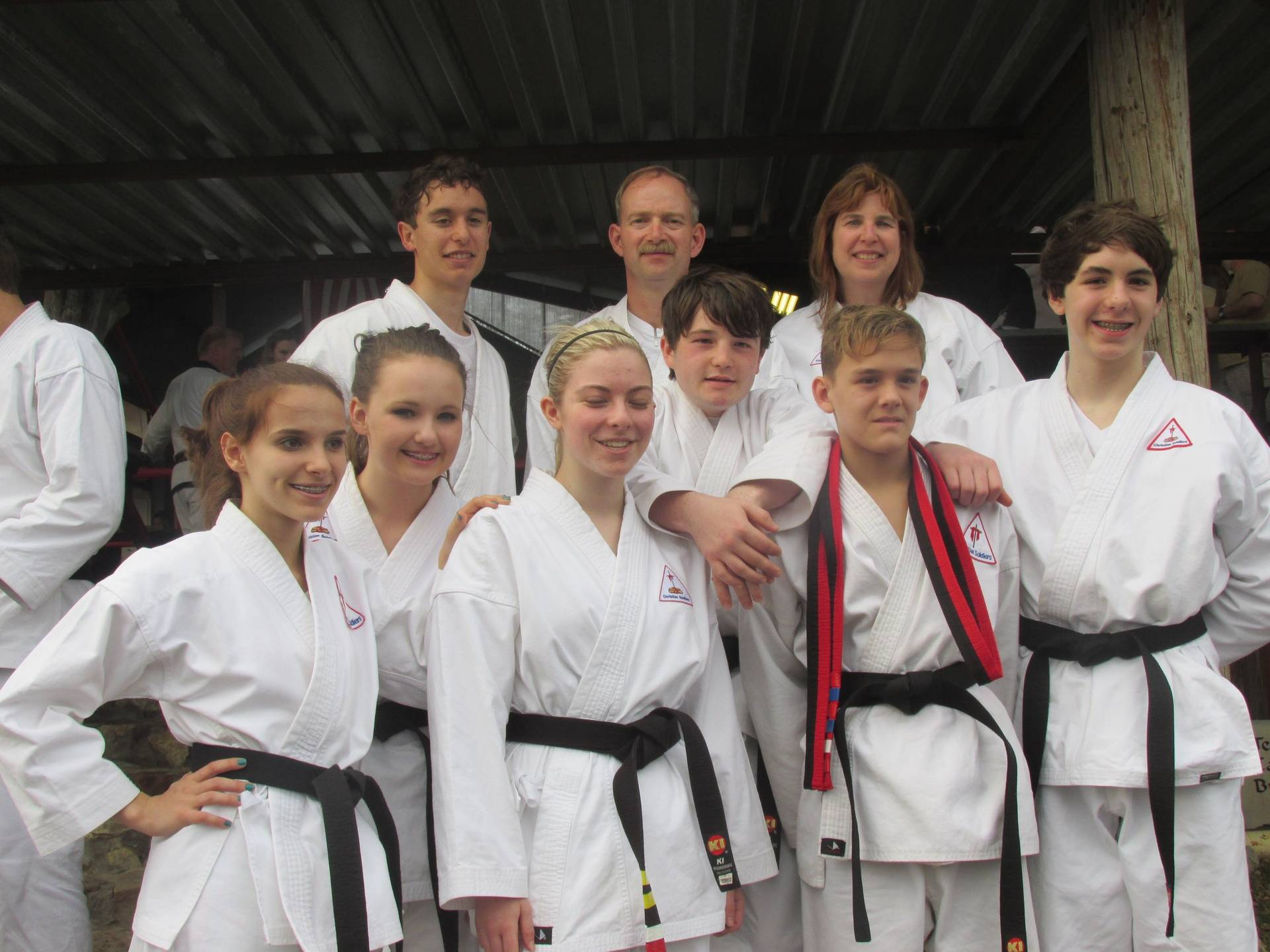 1st & 2nd Degree Black belts earned