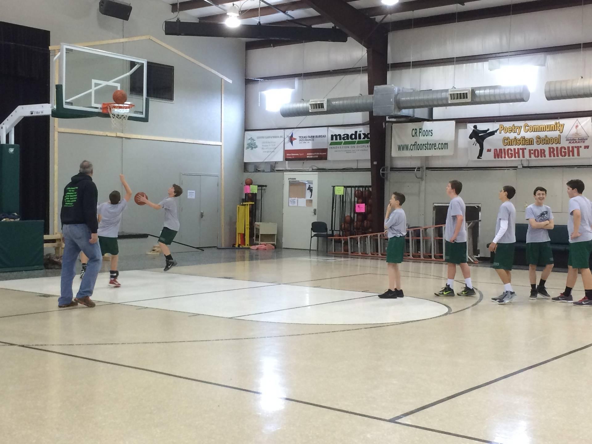 JV Basketball Practice