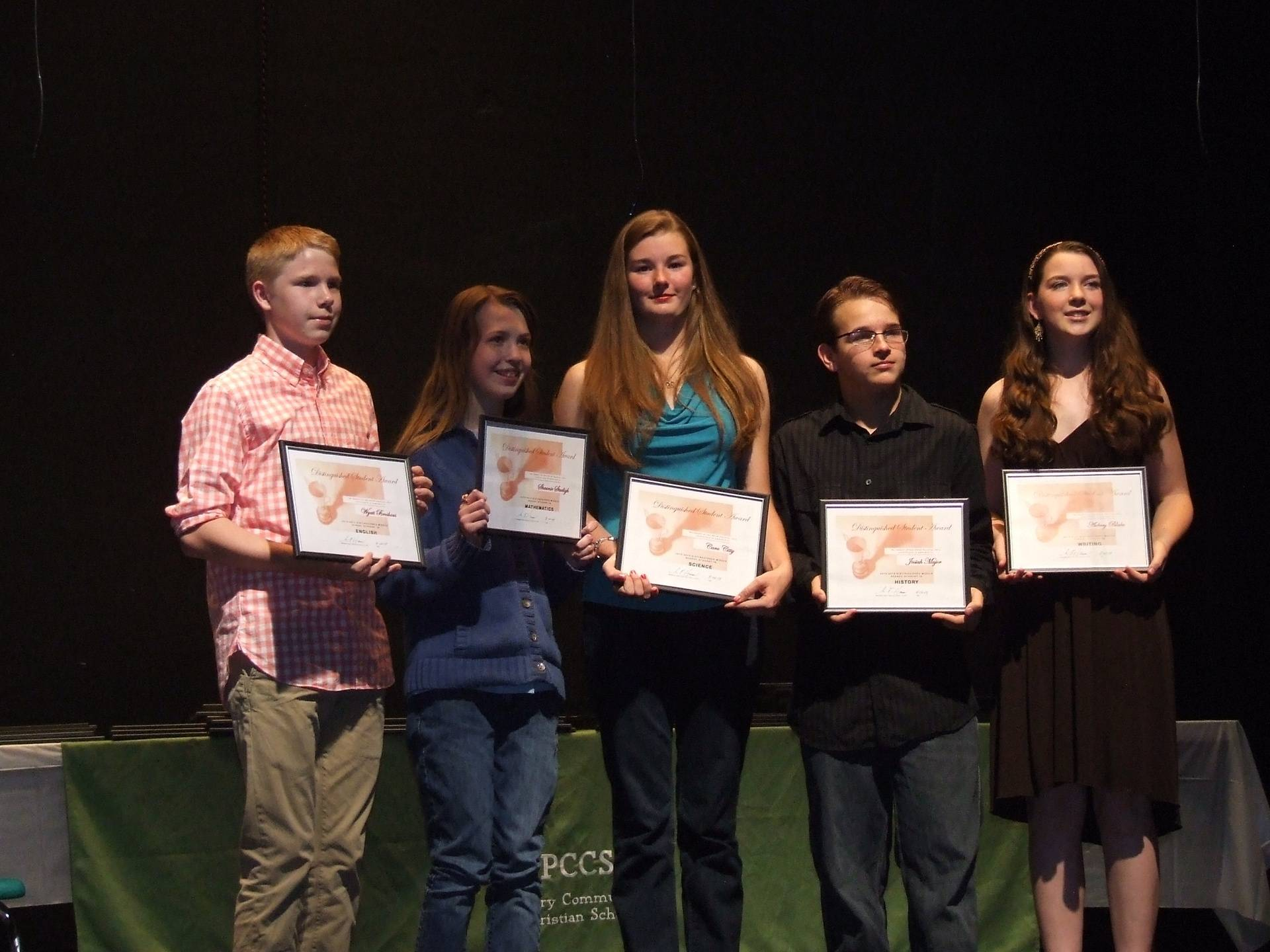 Distinguished Middle School Students