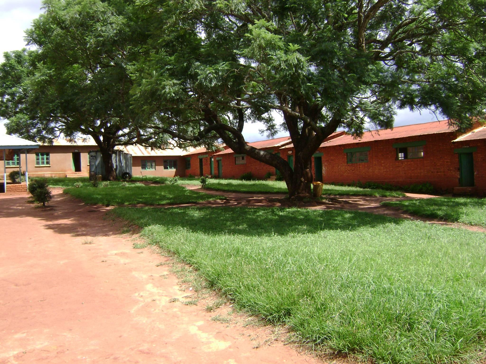 Right side of school courtyard