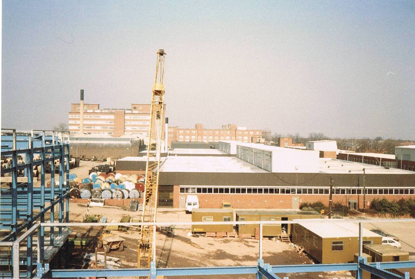 Construction of  L2 Block - in 1987 - taken from the Bordesley Green end of the site.