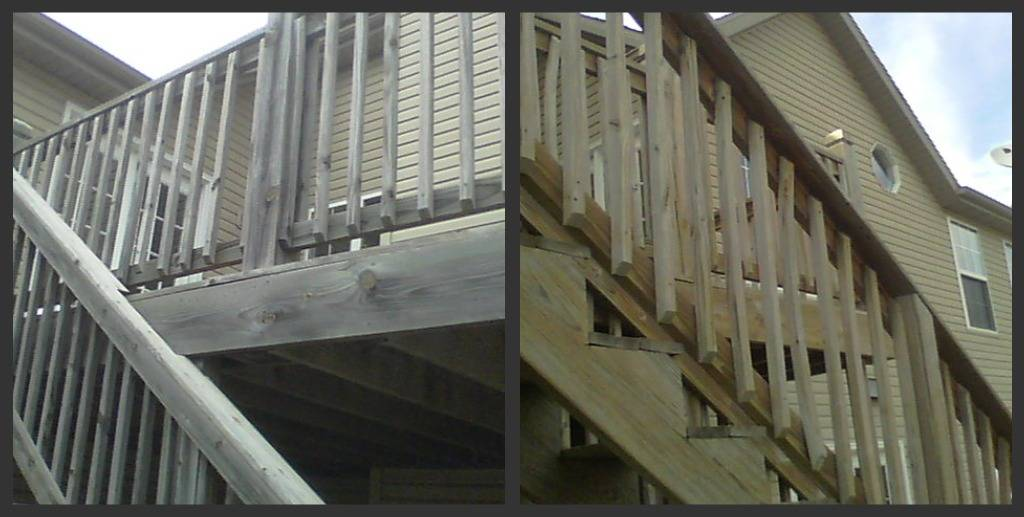 Wood restoration  Cleaned by Pete