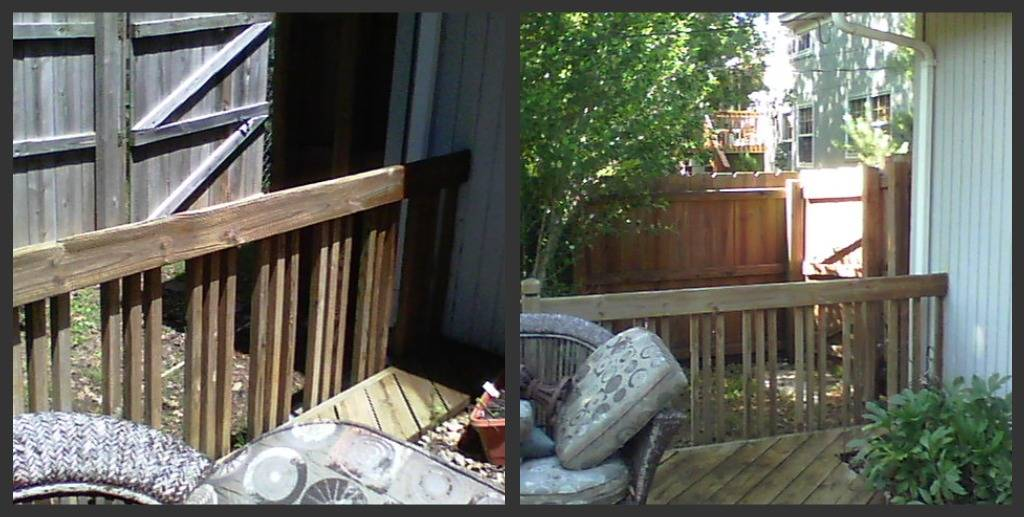 Fence and deck cleaning  Cleaned by Pete