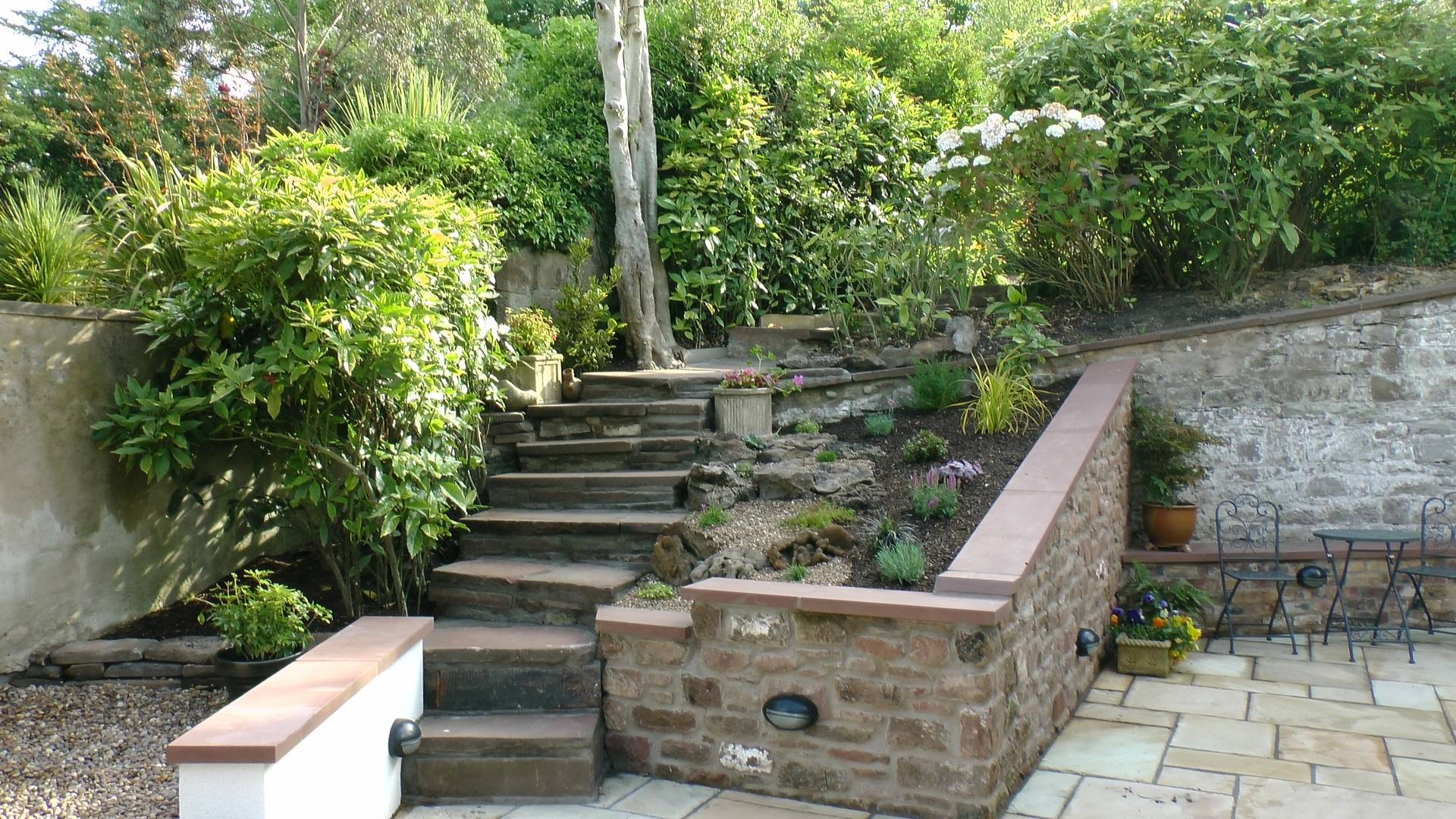 Garden work- blockwork and paving