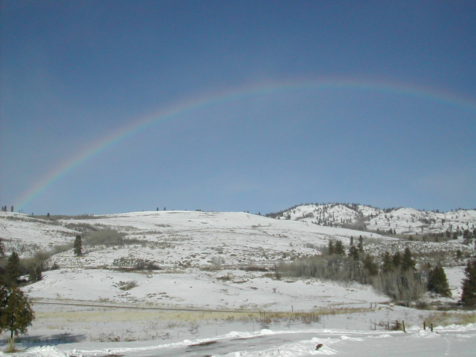 Winter Rainbow (on a clear day?)