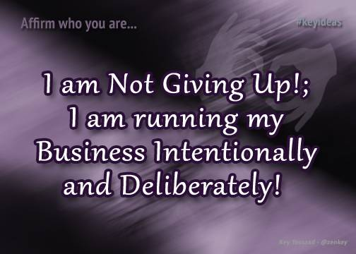 I am Not Giving Up on Myself!