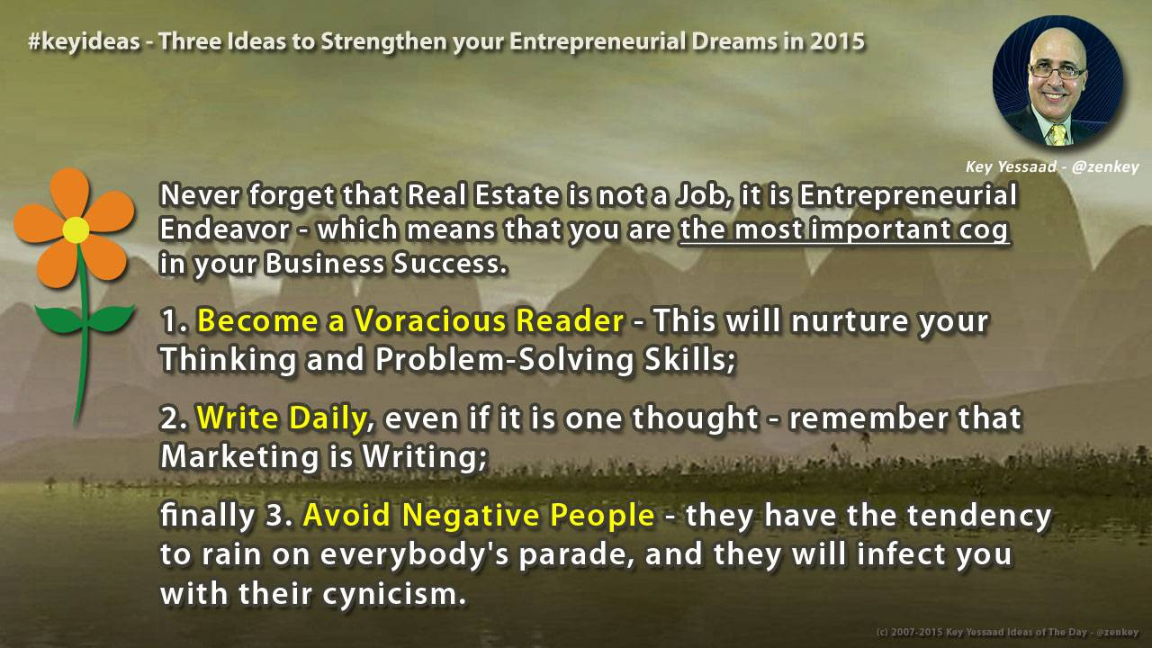 Three Ideas to Strengthen your Entrepreneurial Dreams in 2015