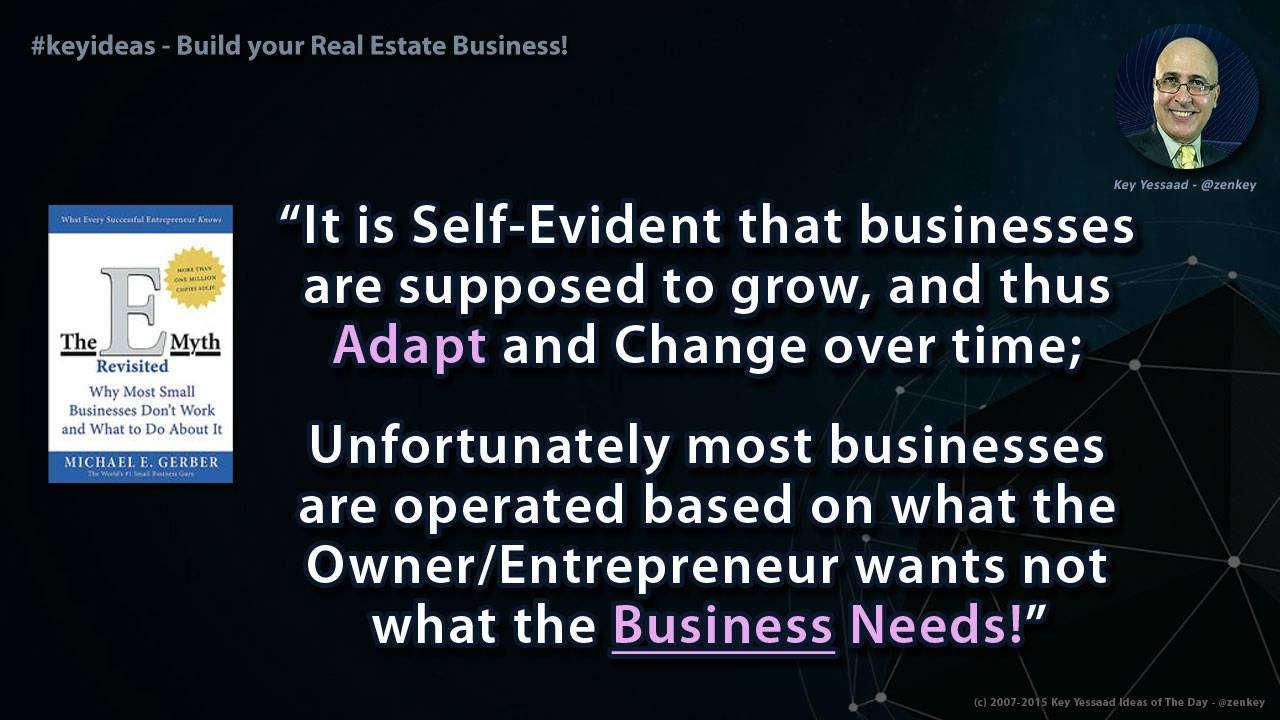 Focus on the Business Not just You