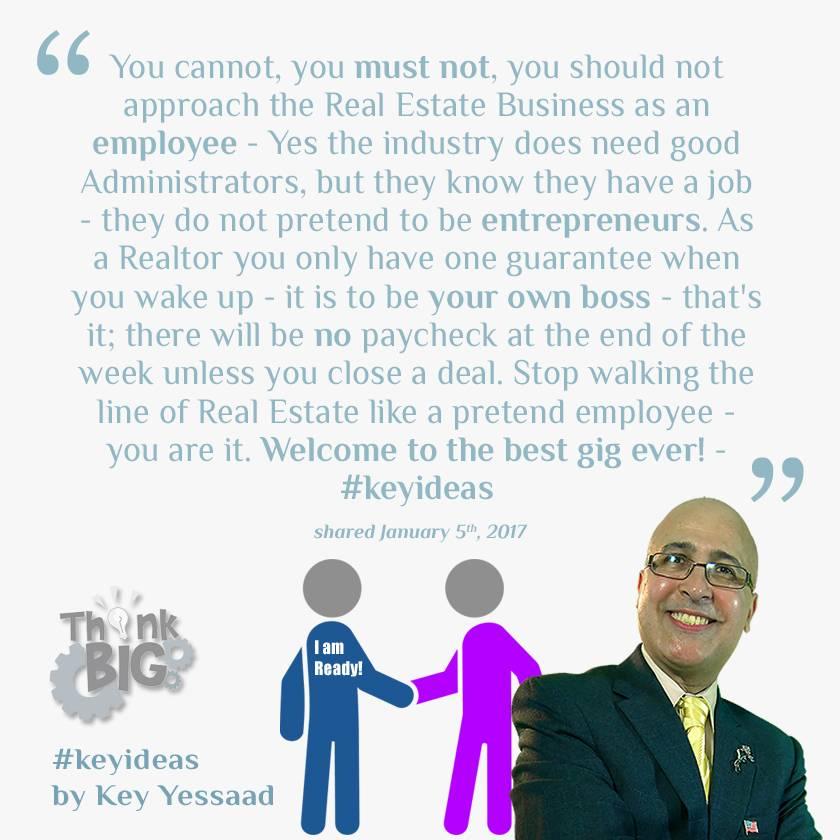 Start Thinking and behaving like an Entrepreneur