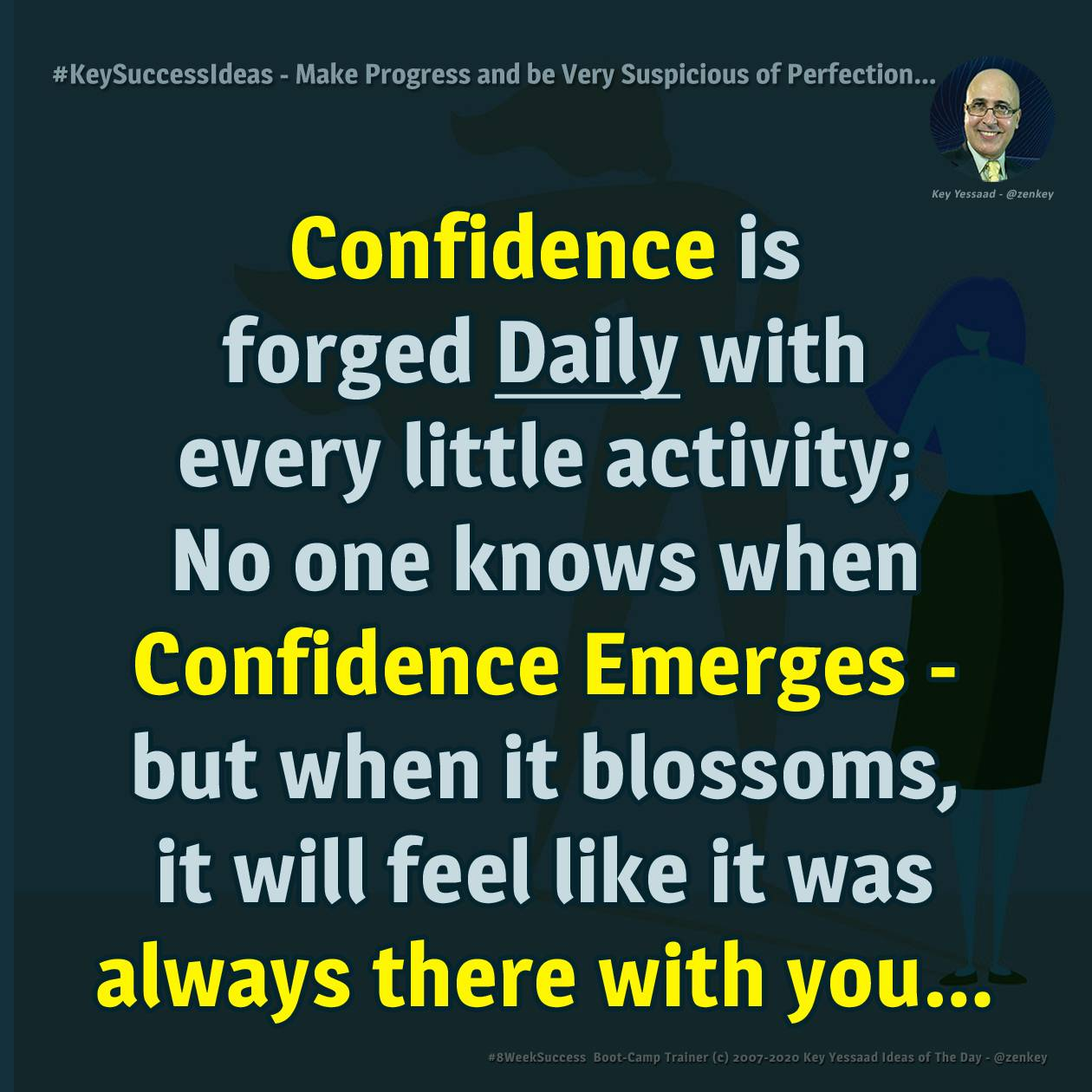 Make Progress Daily and be Very Suspicious of Perfection... - #KeySuccessIdeas