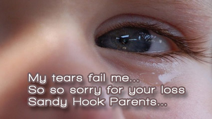 Tears fail to soothe our broken hearts