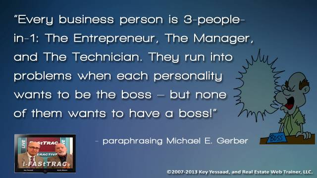 Who have you allowed to be the boss?