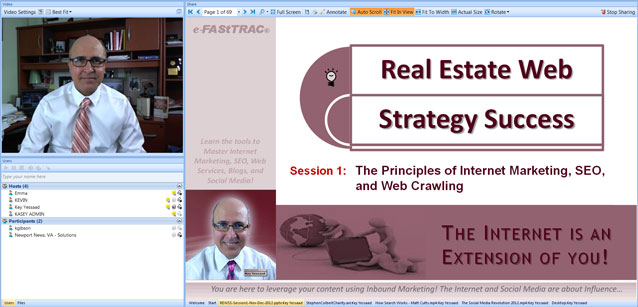 Session 1 of Web Strategy Training