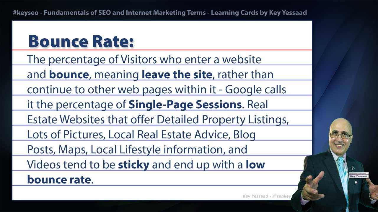 Bounce Rate - Internet Marketing and SEO Glossary