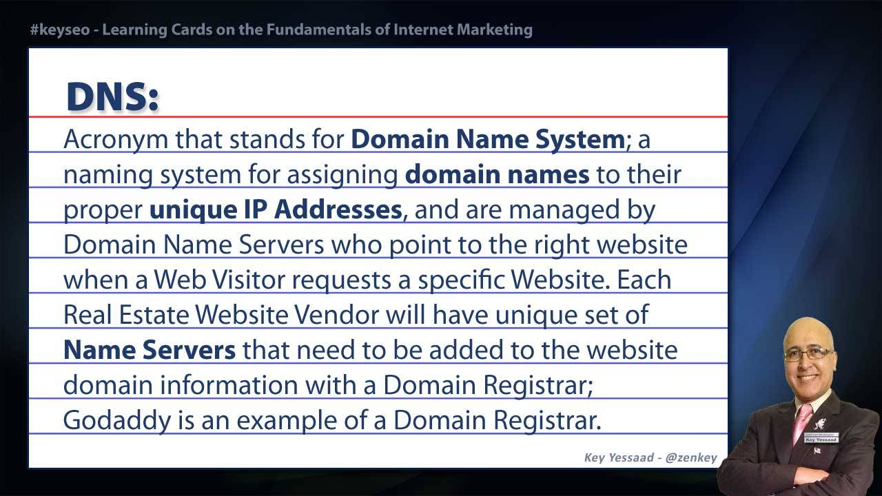 DNS - Real Estate SEO Short Definition