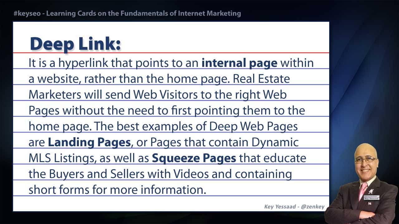 Deep Link - Real Estate SEO Short Definition