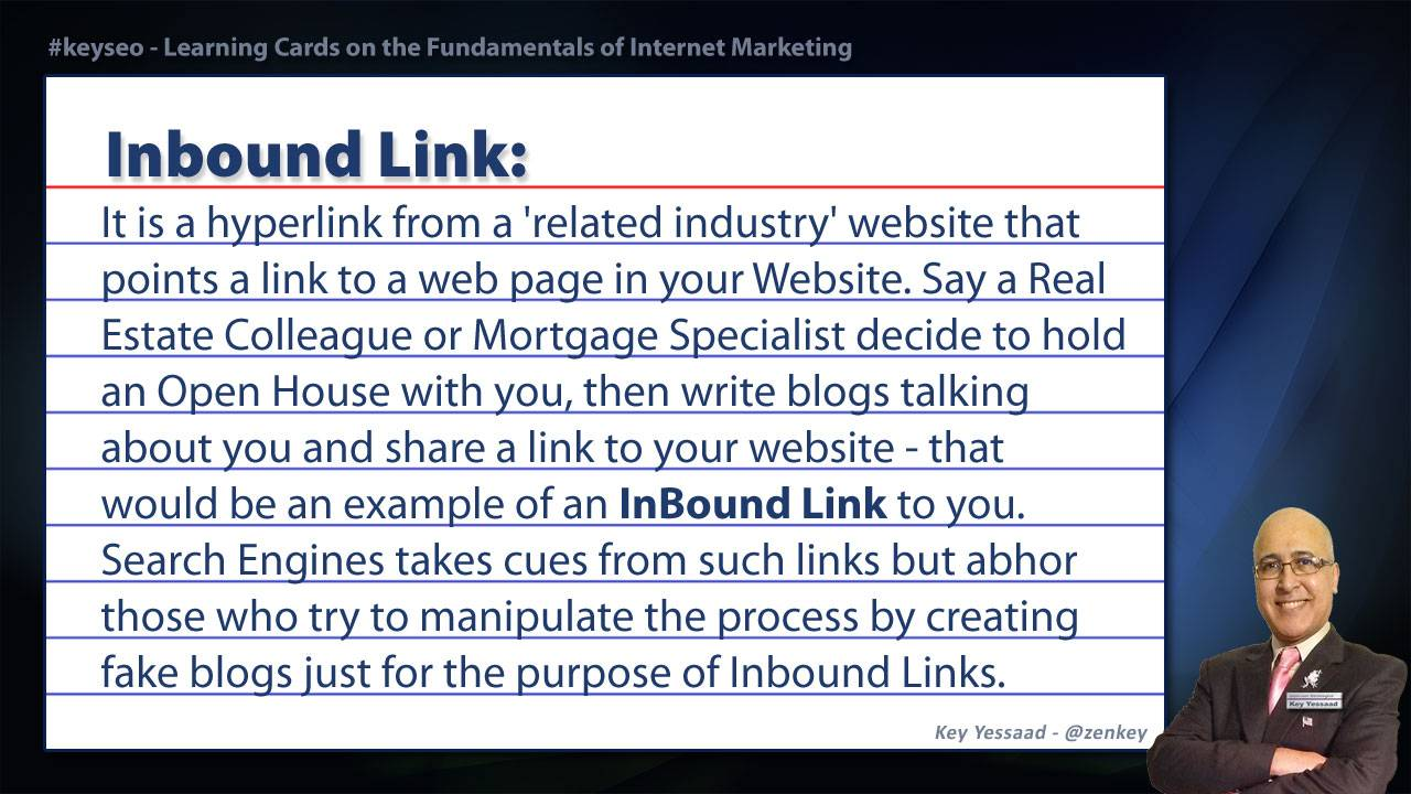 Inbound Link - SEO Short Definition for Real Estate