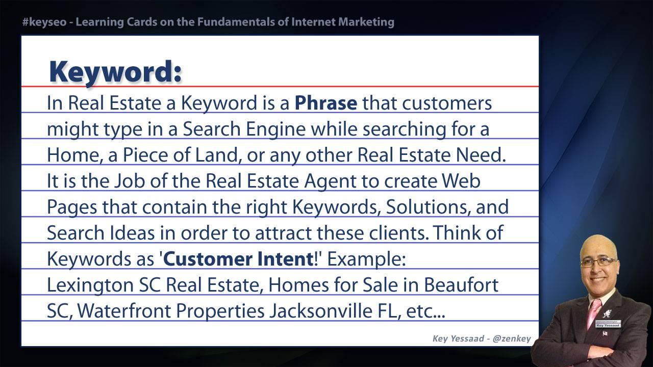 Keyword - SEO Short Definition for Real Estate