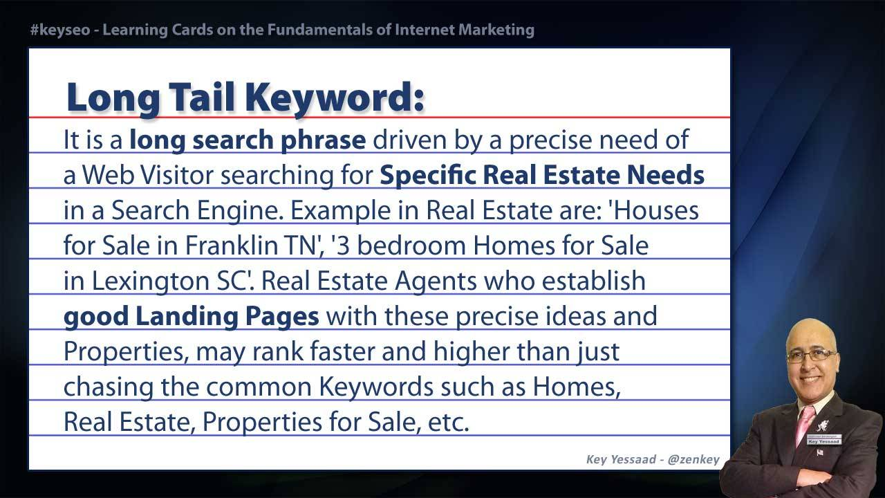 Long Tail Keyword - Real Estate SEO Short Definition