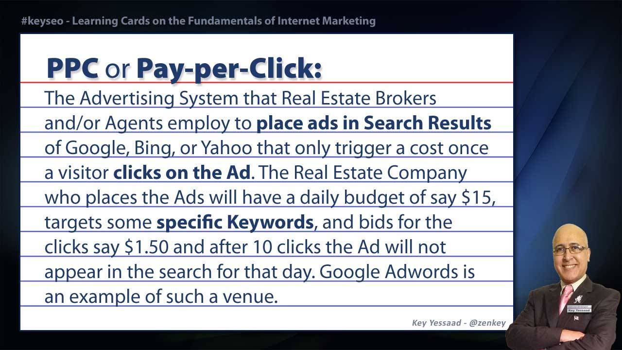 PPC or Pay-per-Click - SEO Short Definition for Real Estate