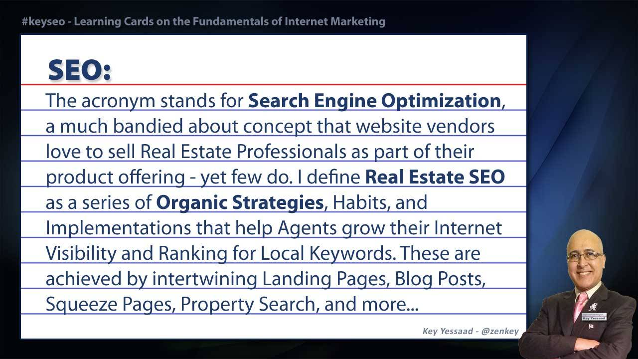 SEO - Real Estate SEO Short Definition