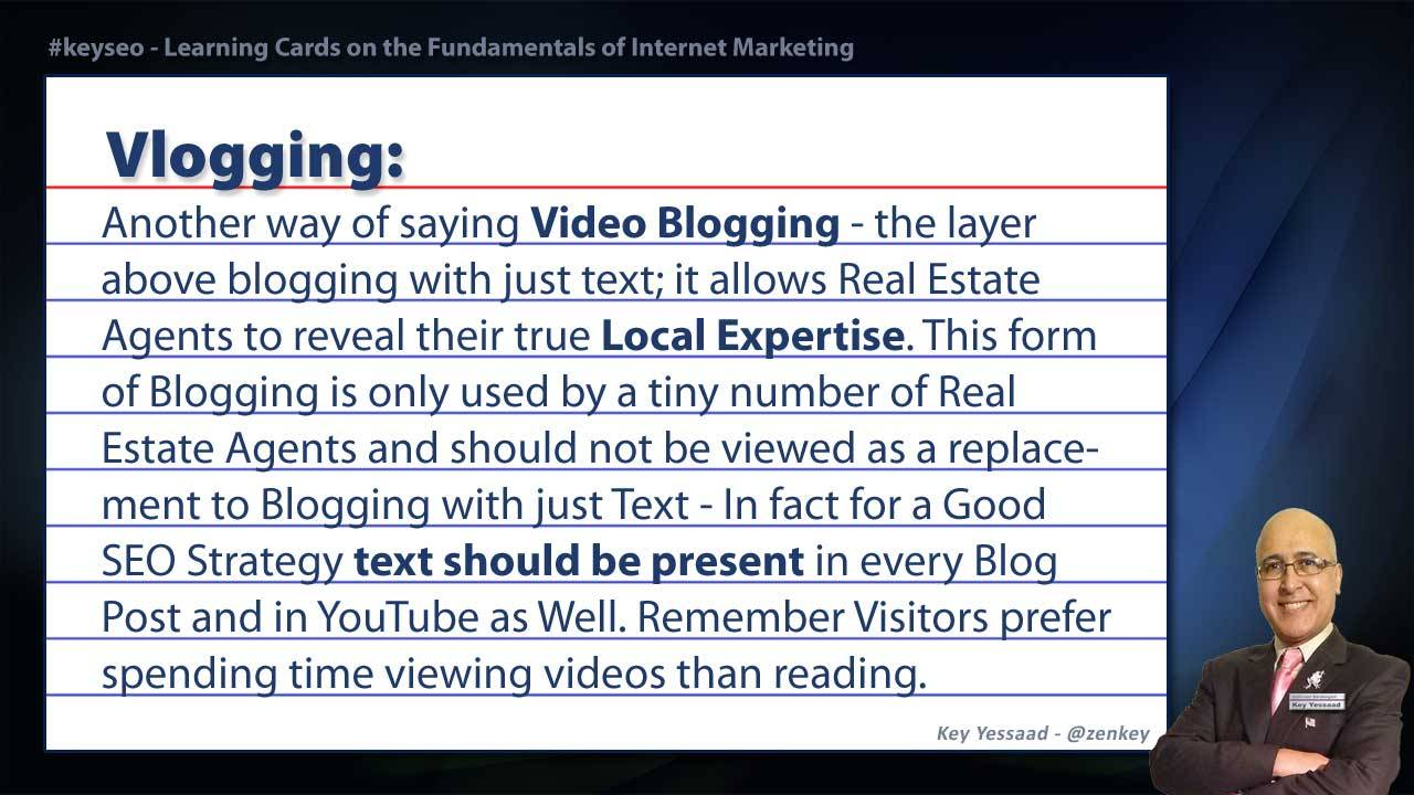 Vlogging - Real Estate SEO Short Definition