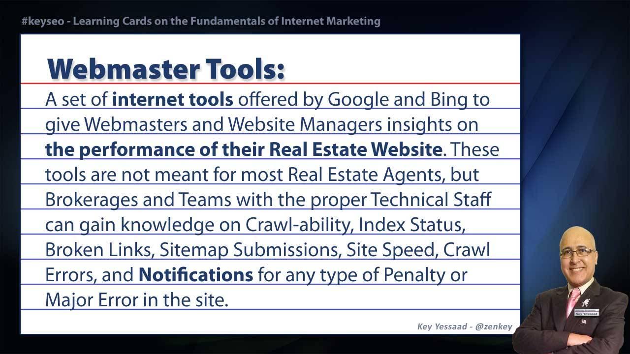 Webmaster Tools - Real Estate SEO Short Definition
