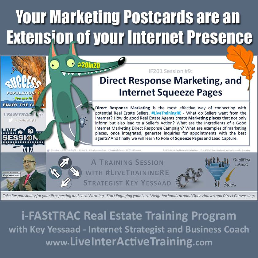 Your Marketing Postcards are an Extension of your Internet Presence - iF201-09 Dec 2019 - #LiveTrainingRE