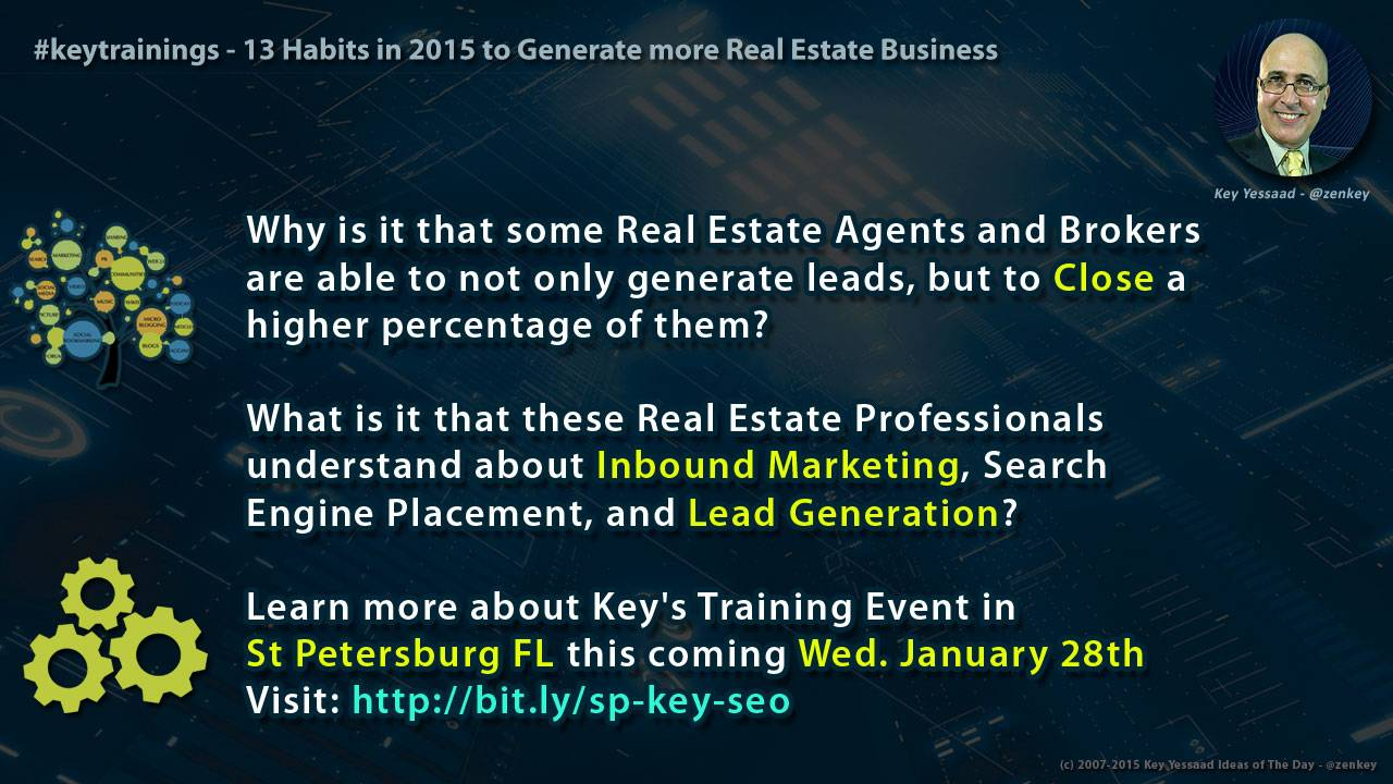 13 Habits in 2015 to Generate more Real Estate Business
