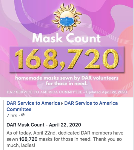 April 22nd - 168,720 Masks Made