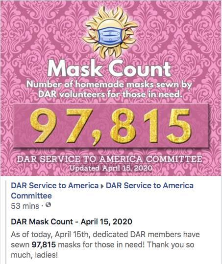 April 15th, 2020 - 97,815 Masks Made