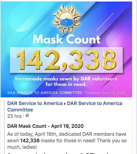 April 19th - 142,338 Masks Made