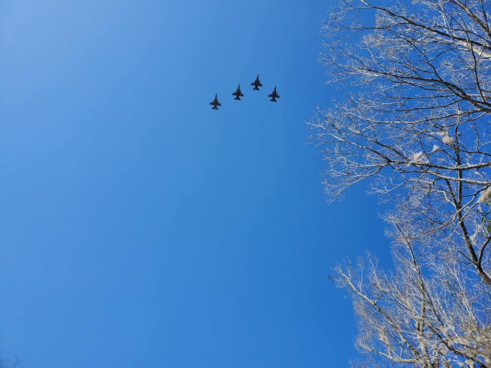 A Flyover during the ceremony