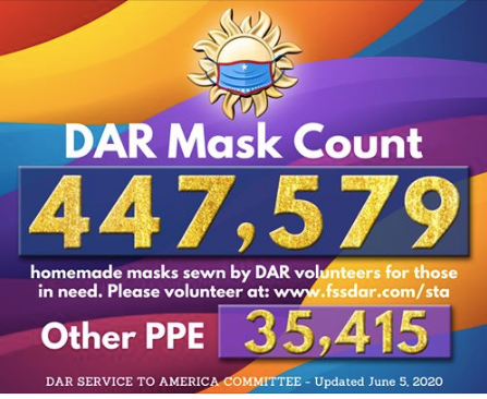 June 5th Mask and PPE Count 447,579 Masks Made