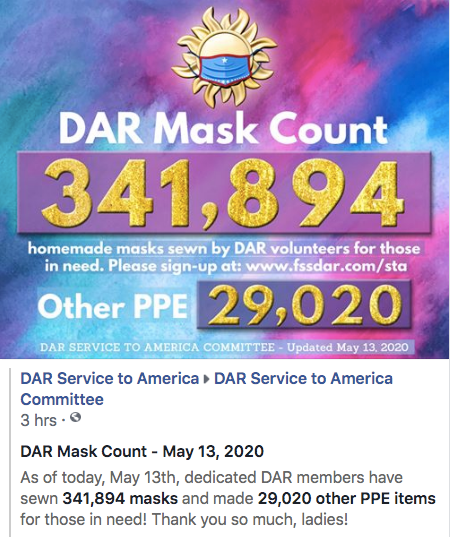 May 13th Mask Count - 341,894 Masks Made