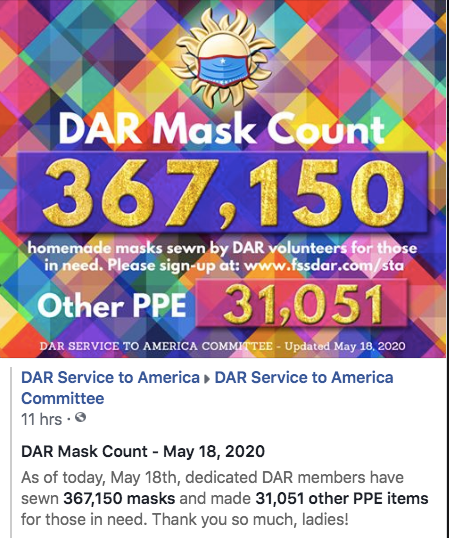 May 18th Mask Count - 367,150 Masks Made