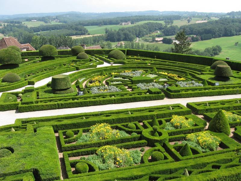 Gardens at Hautefort Castle
