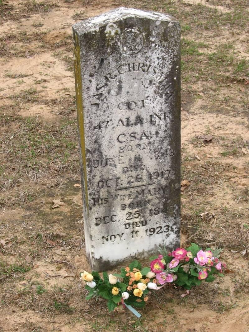 Headstone of James R. Chrisman