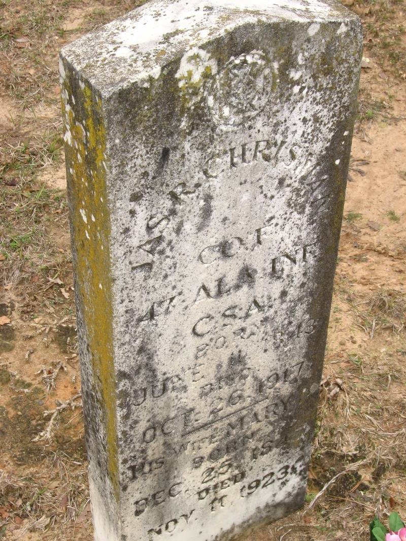 Headstone of James R Chrisman