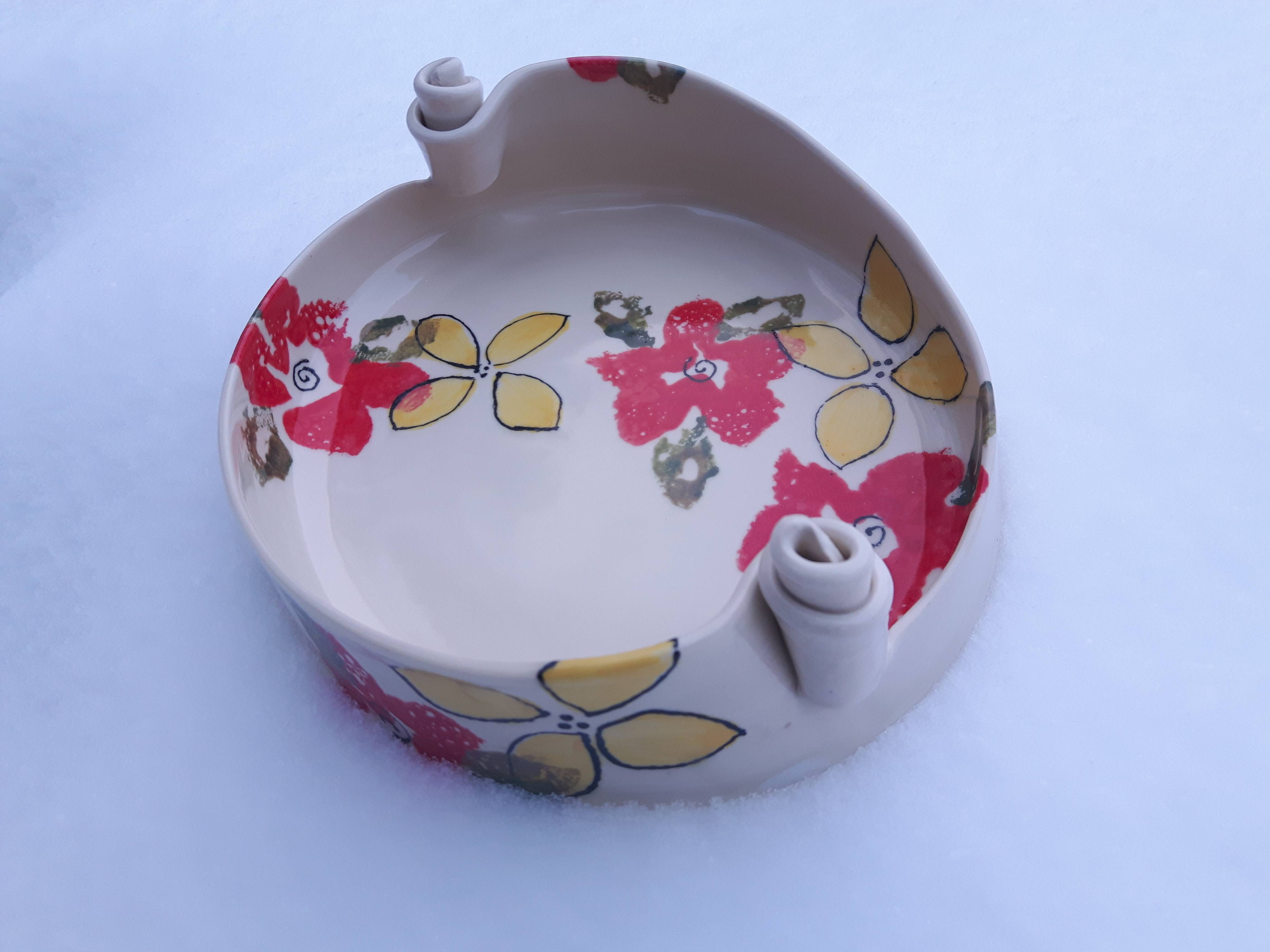 Spring Flowers Serving Dish