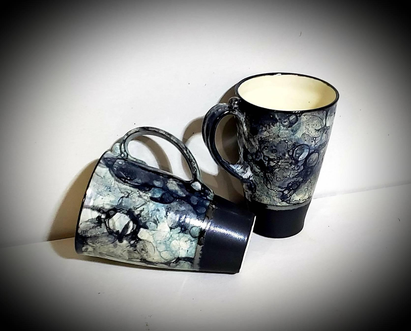 Bubble Glaze Mugs ~ View 2