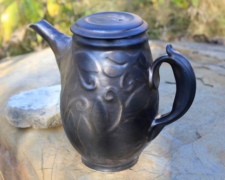 Water Etched Tea Pot