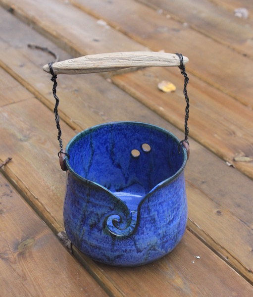 Bucket with Driftwood Handle