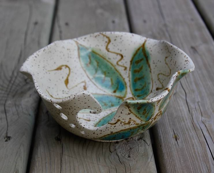Turquoise Flower Bowl