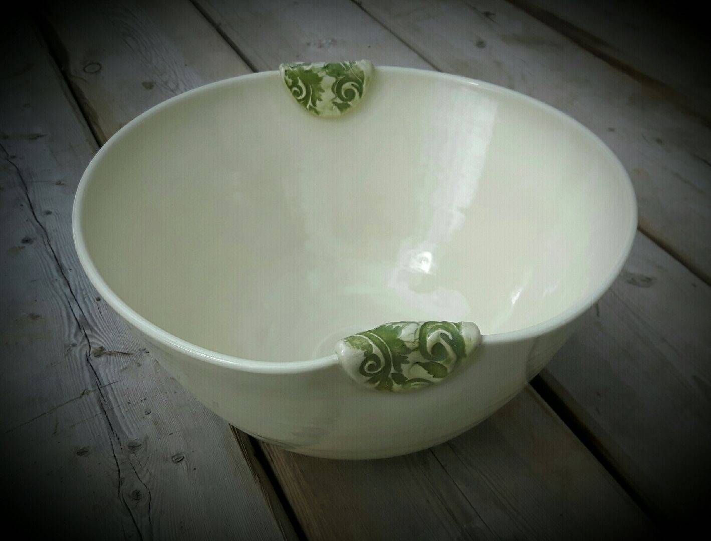Simply White with Lime Green Clasps