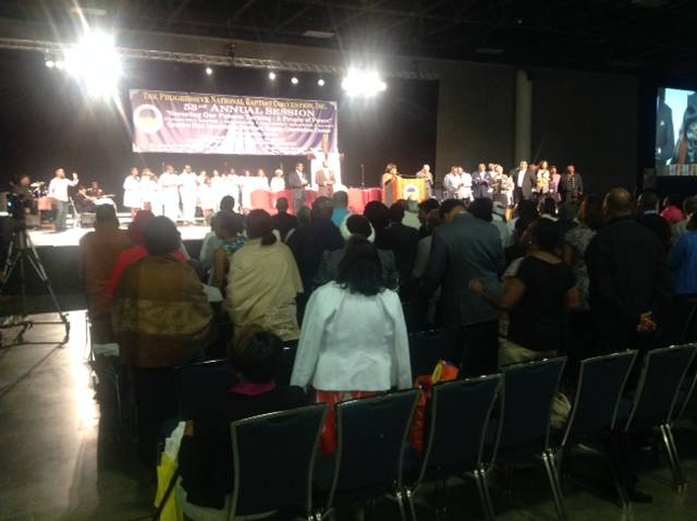 Youth attending worship at the Progressive National Baptist Convention, Fort Lauderdale, FL